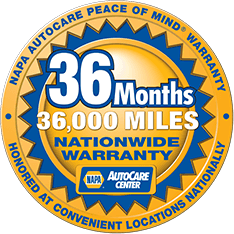 36 Months/36,000 Miles Nationwide Warranty badge